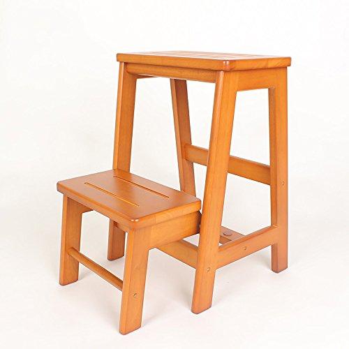 QFFL Repose-Pieds créatif en Bois Solide/Tabouret d'échelle/échelle Pliante/escabeau Multifonctionnel Tabouret 54 * 38 Cm Tabouret d'extérieur (Couleur : A)