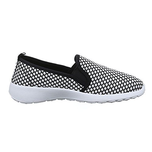 Damen Schuhe, C27-13, HALBSCHUHE SPORTLICHE SLIPPER Weiß