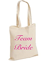 Wedding Favours Bridal Gift Keepsake Hen Party Cotton Tote Bags Bridemaid The Bride Maid Of Honour Team Bride