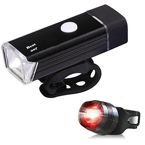 Best 007 set de iluminaciOn LED para bicicleta, recargable