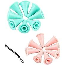 Hemore Estone nuevo 16 PC tejer agujas punto protectores 2 tamaños para tejido artesanal
