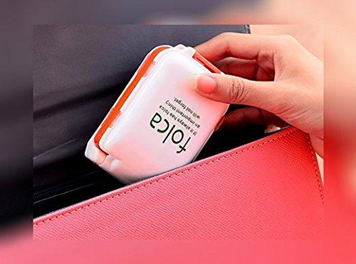 Everbuy 8 Compartment Folca Pill Box Medicine Tablet Holder Organizer -Multicolor