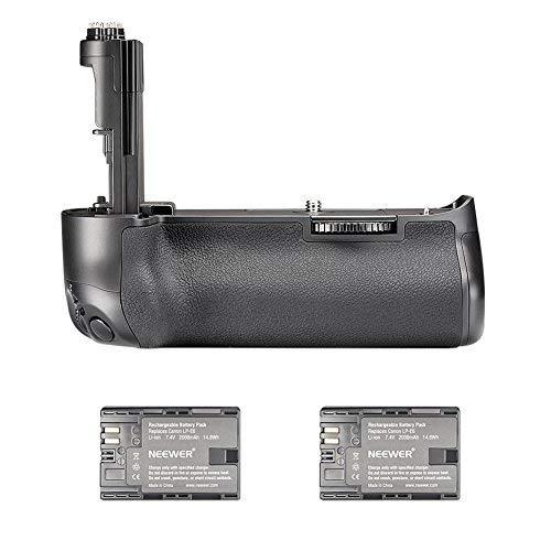 Neewer BG-E11 Reemplazo Vertical Grip de Batería con 2 Packs 2000mAh recargable LP-E6 Reemplazo de Batería de Iones de Litio, Apto. para Canon EOS 5D Mark III 5DS 5DSR Cámaras Digitales SLR