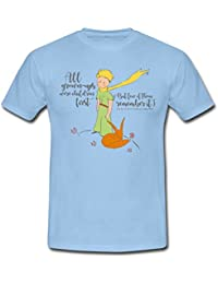 Spreadshirt The Little Prince With Fox Quote Grown-UPS Men's T-Shirt