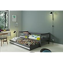 """CAMA INFANTIL NIDO 190X80 """"CARINO"""" , 2 colchónes incluidos! (gris)"""
