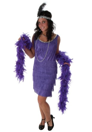 Plus Size Purple Fringe Flapper Dress (Flapper Kostüme Fringe)