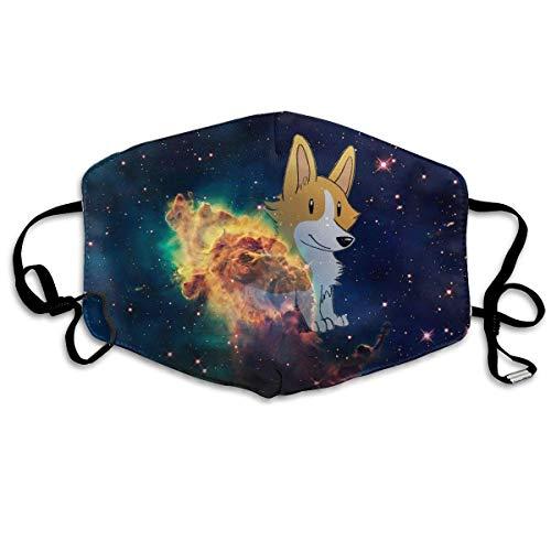 Masken, Masken für Erwachsene, Unisex Unique Mouth Mask, Cute Space Corgi Dogs Polyester Anti-dust Masks - Fashion Washed Reusable Face Mask for Outdoor - Space Dog Kostüm