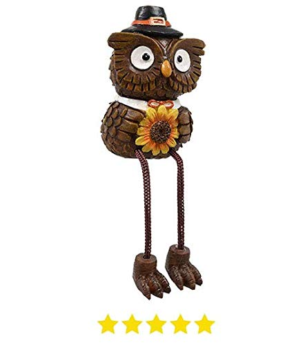Eule Statue. Thanksgiving Herbst Home Dekorationen. Thanksgiving Dangling Bein Deko Figur Outdoor Veranda Statue. ()
