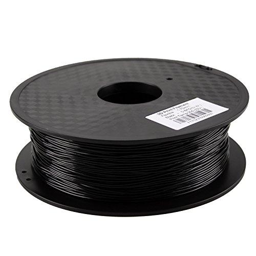 HICTOP 0.8KG 1.75mm Schwarzes flexibles TPU (Gummi) Filament für 3D Drucker (Spitze Schwarz-plattform)