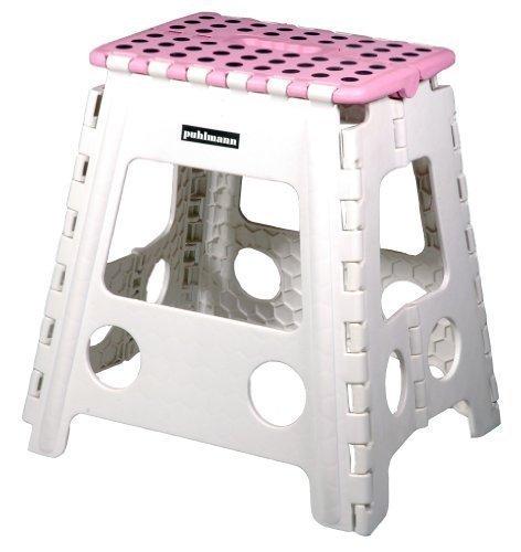 Faltbarer Tritt Hocker MISS DAISY XL - pink/weiss