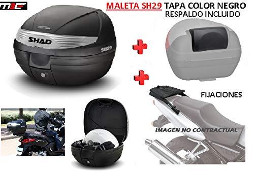 SHAD Kit BAUL Maleta Trasero SH29 litros + FIJACION + Respaldo Pasajero Regalo -...