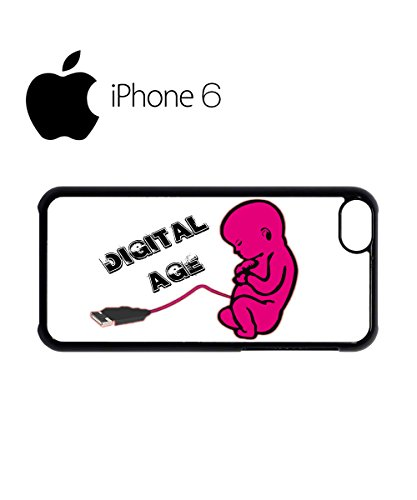 Digital Age Baby Funny Swag Mobile Phone Case Back Cover for iPhone 6 Black Noir