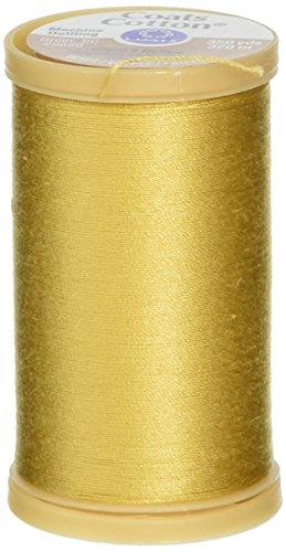 Coats Gewinde & Reißverschlüsse Maschine Quilting Baumwolle Gewinde, 350-yard, Tempel Gold (Baumwoll-350 Thread)