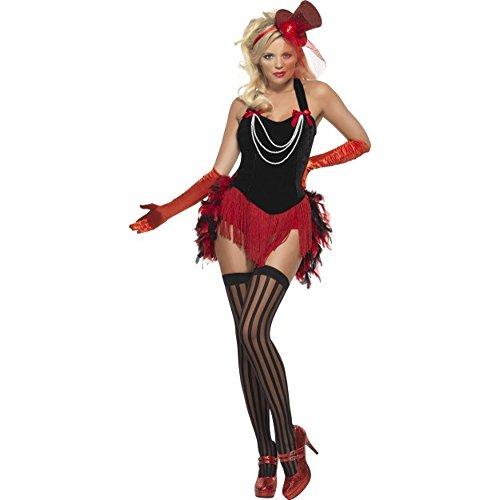 Kostüm Kostüm Damen Burlesque Feder Minikleid Smiffys * 12402, mehrfarbig S