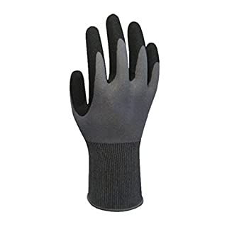 NAN Smart thin anti-skid oil wear-resistant nitrile dip labor protection gloves gardening maintenance handling - a pair of equipment Nitrile (Size : S)