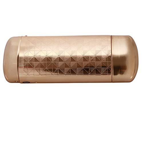 Pinhan Aluminium Brillenetui Hard Slim Brillenetui Brillen Schutzbox, Gold