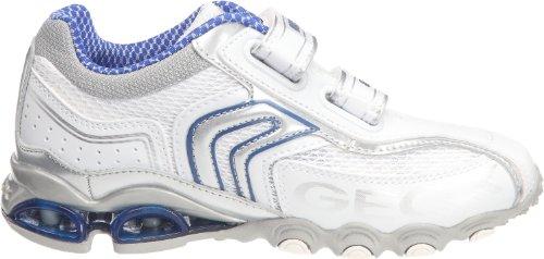 Geox Jr Tornado, Chaussures basses garçon Blanc/bleu royal