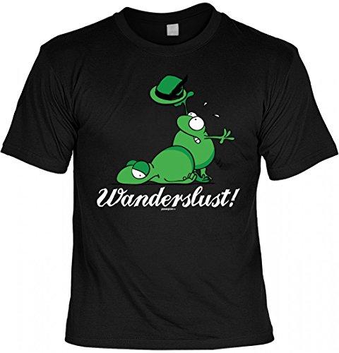 rohuf Design T-Shirt Wandern - Frösche - Wanderslust - Originelle Geschenkidee mit Humor Für ambitionierte Wanderfreunde, Größe:5XL