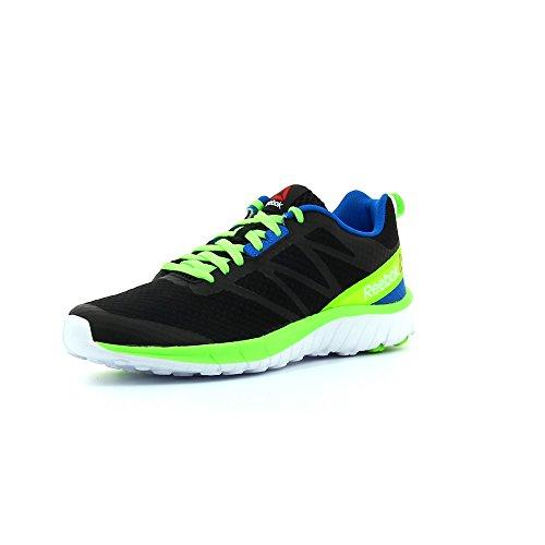 Reebok Soquick, Scarpe da corsa bambini Multicolore Negro / Verde / Azul / Blanco (Black/Solar Green/Blue Sport/White) 38