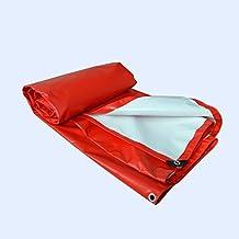 Hongyan Tela cerata Telone parasole Impermeabile Outdoor Telone solare antipolvere Protezione solare Tela, Rosso, 500G/Metri quadrati, Una varietà di dimensioni disponibili