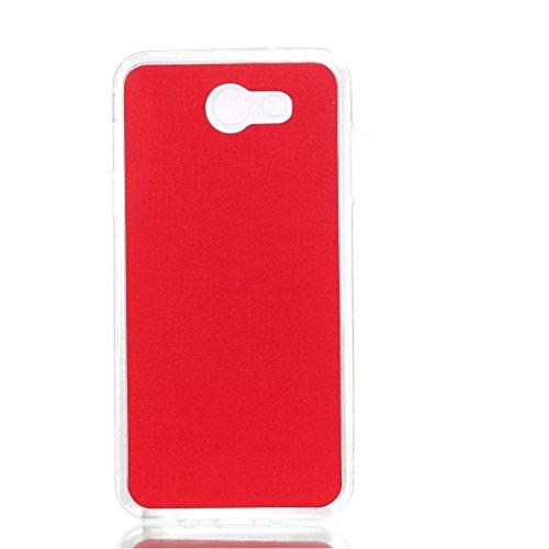 Cross Lines Texture Dreifach Typ PU Leder Brieftasche Case mit freistehenden TPU Back Cover Card Slots für Samsung Galaxy J7 2017 ( Color : Blue ) Red
