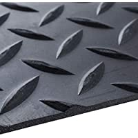Breiter 8 M x 1,2 M Riffelblech schwarz Gummimatte 3 mm dick