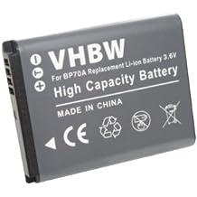 BATERÍA LI-ION 500mAh compatible con SAMSUNG PL90, PL120, PL170, PL200, ES73, ES74, ES75, ES78, ES80, ES90, ES91, ST76 etc. Sustituye EA-BP70A