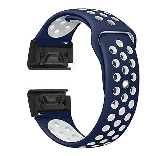Preisvergleich Produktbild Mode Silikonband Sport Ersatz Uhrenarmband Handschlaufe Hautfreundliches weiches Armband, für Damen, Herren,  Mädchen,  Kompatibel für Garmin Fenix 5X / 5X Plus Fenix 3 / 3HR Uhr (blau)