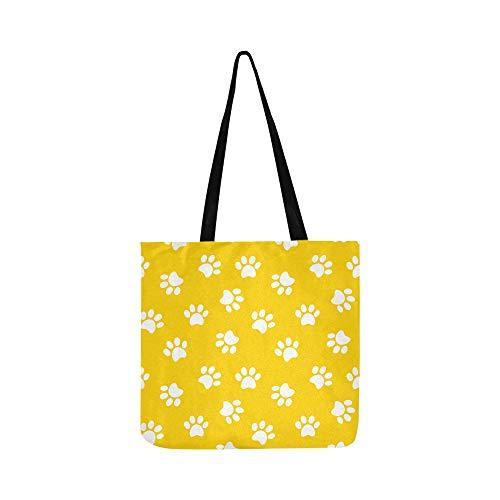 Bunte Doodle Dog Paw Animal Canvas Tote Handtasche Schultertasche Crossbody Taschen Geldbörsen für Männer und Frauen Einkaufstasche (720 Ti)