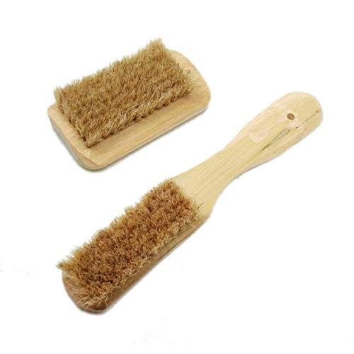 Shoe Brush Shoes Brush Household Bamboo Long Handle Pig Hair Brush Multi-Purpose Bristle Brush Shoes wash Clothes Soft Brush Cleaning Brush