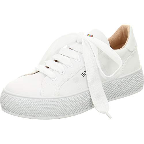 ESPRIT Damen Barbie LU Sneaker Weiß (White 100) 37 EU