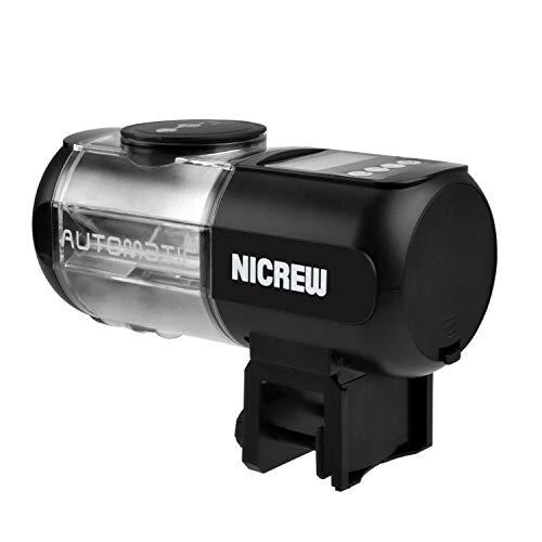 NICREW Alimentador Automático para Acuario Multifuncional con Pantalla LCD, Dispensador de Comida Acuario, Alimentador Peces Automático Fish Tank Fish Food Auto Comederos Automáticos