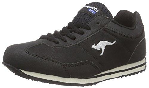 KangaROOS Teno, Low-Top Sneaker donna, Nero (Schwarz (blk 500)), 39
