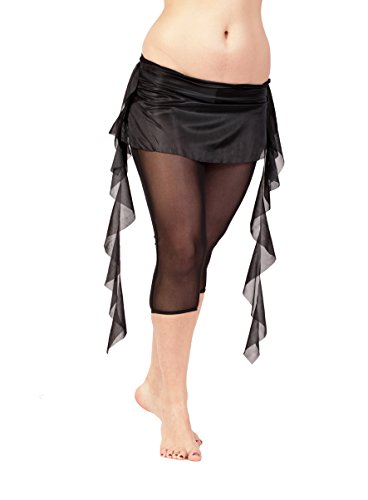 Mini falda volantes laterales danza vientre