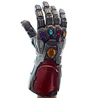 BIRDEU Iron Man Infinity Gauntlet Tony Stark Gloves Thanos with Keychain Latex Gloves with Energy Gem Endgame Movie Cosplay Costume Replica for Adult Men Fancy Dress Party Merchandise