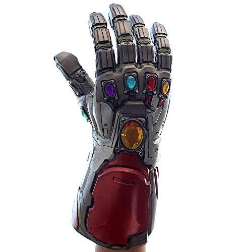 Pandacos Iron Man Handschuh Infinity Thanos Gauntlet Cosplay Handschu aus Latex Premium-Design Unisex- Erwachsene, Multicolor, Einheitsgröße (golden)