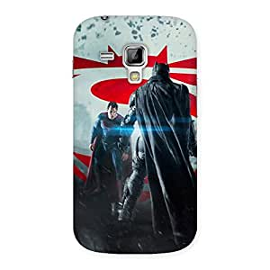 Enticing Day Vs Knight Front Multicolor Back Case Cover for Galaxy S Duos