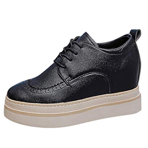 Schuhe Damen Turnschuhe, Gym Laufschuhe Frauen Wedges Schuhe Lässige Schnürschuhe Mode Elegant Sportschuhe Hausschuhe Sneaker,ABsoar