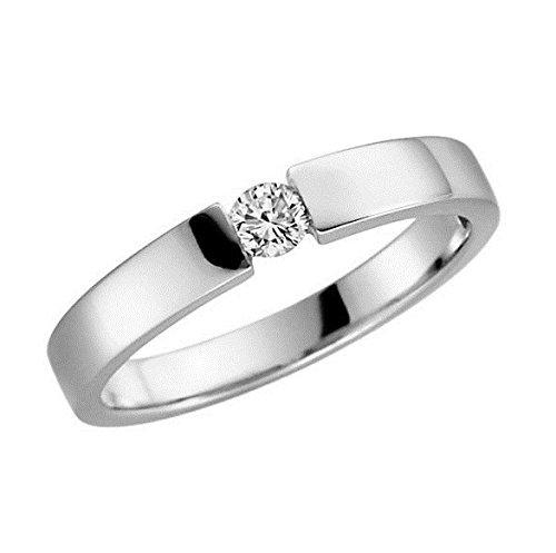 Verlobungsring 375 9 Karat Gelb oder Weißgold Antrag-Ring alle Größen von 48 bis 62 (9 Karat...