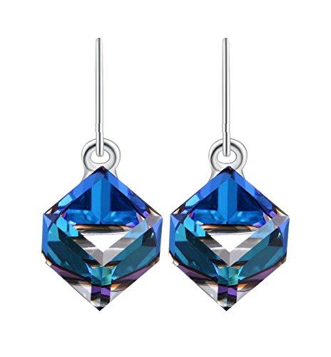 DEWANG Ewige Liebe-Tropfen-Ohrringe mit Swarovski Elementen Kristalle Frauen Mode-Schmuck, Bermuda (Definition Modeschmuck)