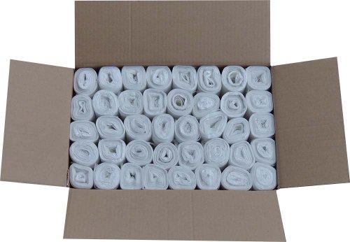 Cleanwizzard, Set di sacchetti della spazzatura robusti da 20 litri, 45 x 45 cm, Trasparente, 40 rotoli in confezione di cartone