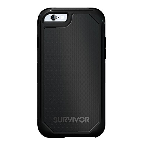 Griffin GB41553 Survivor Adventure Custodia per iPhone 6/6s, Nero