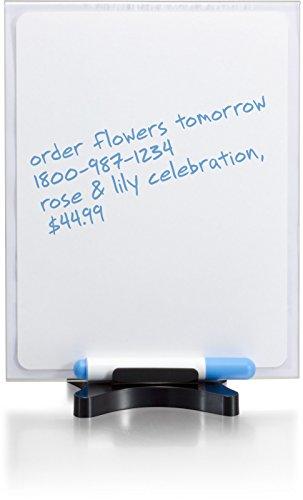 um Dual, Halterung und Dry Erase Größe White Board, Buchstaben, schwarz/transparent (23044) (Transparente Dry Erase Board)