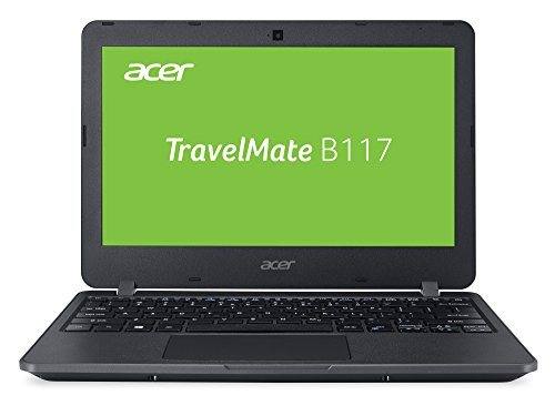 Acer TravelMate B1 TMB117-M-P72Q 29,5 cm (11,6 Zoll HD matt) Laptop (Intel Pentium N3710, 4GB RAM, 64GB eMMC, Intel HD, Win 10 S) schwarz