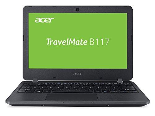 Acer TravelMate B1 TMB117-M-P72Q 29,5 cm (11,6 Zoll HD matt) Laptop (Intel Pentium N3710, 4GB RAM, 64GB eMMC, Intel HD, Win 10 S) schwarz