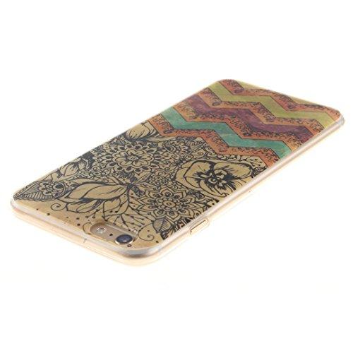 Xf-fly® iPhone 6 / 6S Hülle mit TPU Silikon Material und Retro Farblich Muster Schutzhülle Handytasche für Apple iPhone 6 / 6S(4.7 Zoll) P-10