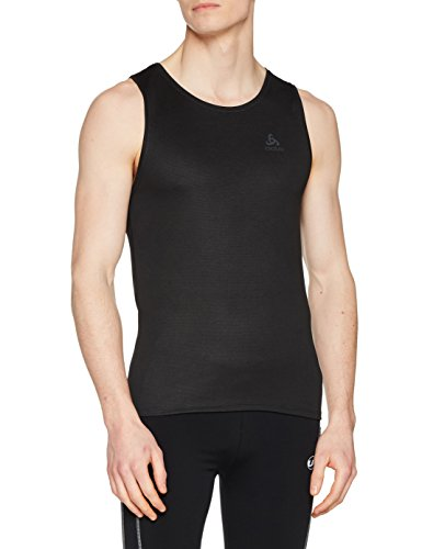 Odlo Herren SUW TOP Crew Neck Singlet Active F-Dry Light Unterhemd, Black, L