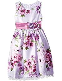 5b097dc07 Jayne Copeland Girl's Orchid Floral Dress Wish Side Roses on Sash