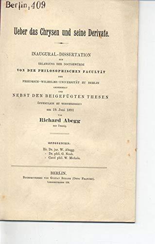 Ueber das Chrysen und seine Derivate.