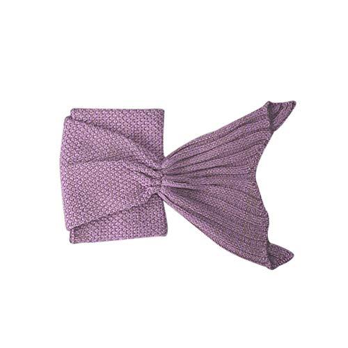 Preisvergleich Produktbild CatcherMy Sofa-Decke,  multifunktionale Fish Tail Modeling Decke weiche wollene gestrickte handgefertigt für Schlafsack Geburtstag Kinder Jugendliche Erwachsene